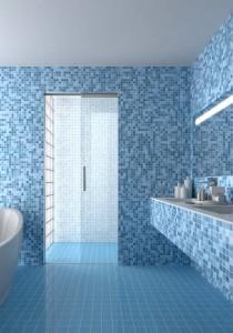 box doccia mosaico