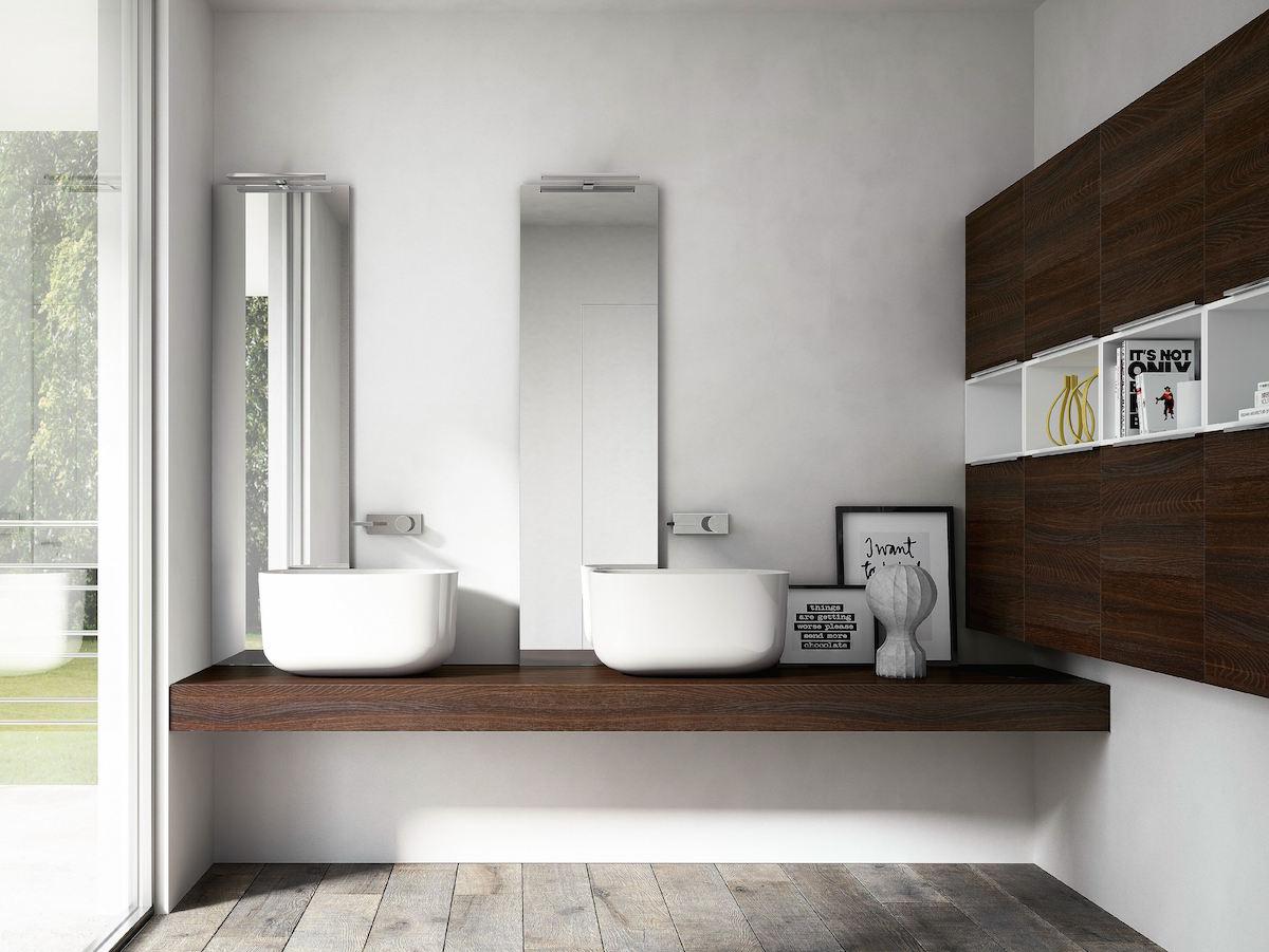 Progettare un bagno per una famiglia di 4 persone - Idee specchi per bagno ...