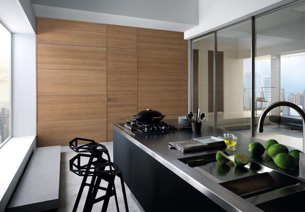 cucina moderna con porte garofoli