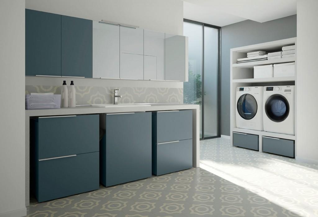 Vuoi un bagno lavanderia ecco come arredarlo cascino - Mobili per lavanderia di casa ...