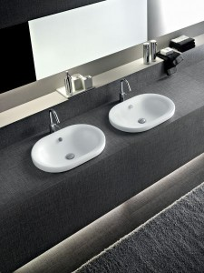 doppio lavabo da incasso