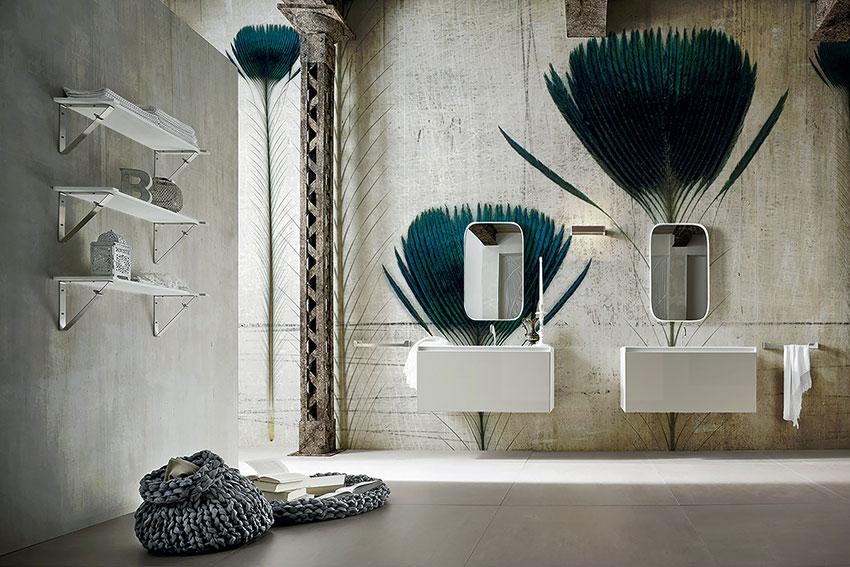 La carta da parati il nuovo trend dell 39 arredo casa for Carta parati vinilica bagno