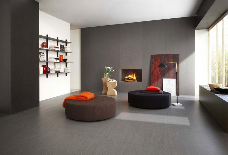 sala moderna con i pavimenti lea ceramiche