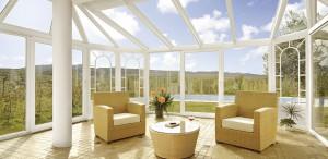 veranda con finestre finstral