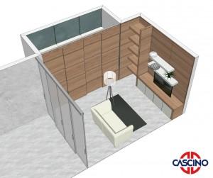 Rendering progetto di Cascino